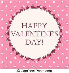 Happy Valentine Day card - Vector happy Valentine Day card