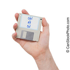 Floppy disk, data storage support - Floppy disk, data...