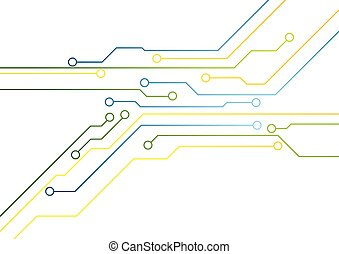 Tech bright circuit board background Vector design