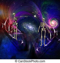 Ending - Skeletal Figures in Cosmos