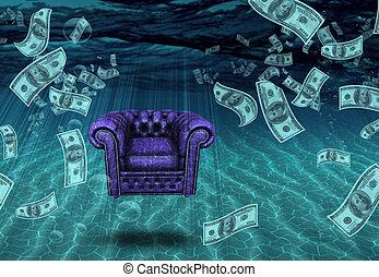 Wealth - Comfotable Chair and US Currrency