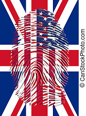USA UK Finger Print