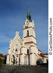 Our Lady Protectress catholic neo-gothic church in...