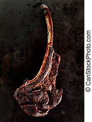 Grilled or barbecued tomahawk steak - Grilled or barbecued...