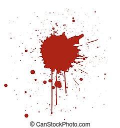 Grunge background with red color splatter. Vector illustration