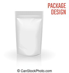 Package Bag - Vector Illustration of Realistic Package Bag...