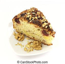 Slice of fruit cake
