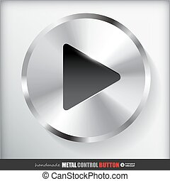 Circle Metal Play Button.