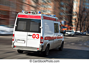 Ambulance - The ambulance car hastens for the aid