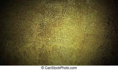 Grunge gold metal background Camera moved