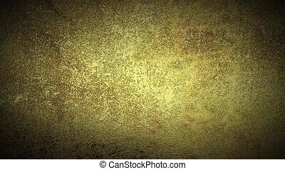 Grunge gold metal background. Camera moved