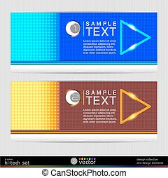 Set of colorful vector banners.