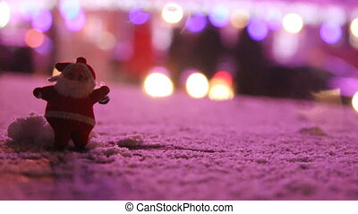 Santa Claus and the city lights - Santa Claus in the...