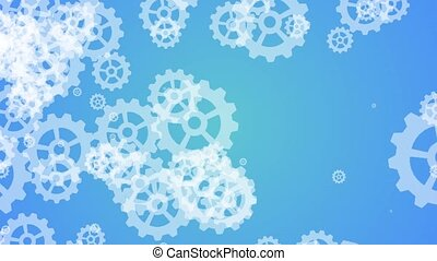 metal gears and cogwheels - Technology background with metal...