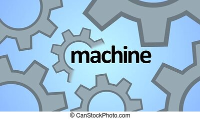 Machine, progress, teamwork. Technology and techno shapes....