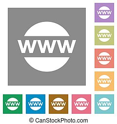 Domain square flat icons