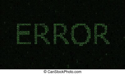 The concept of a programming error - Binary and hexadecimal...