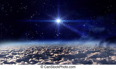 space night blue star - the mystery of stars glowing in...