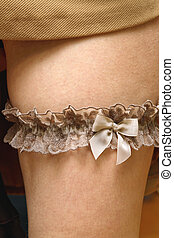 Garter - Wedding Bridal Garter Lace Ribbon With Bow