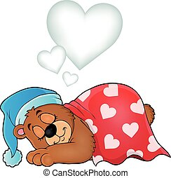 Bear with heart theme image 3