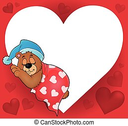 Bear with heart theme image 4 - eps10 vector illustration.