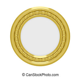 Golden frame over white - Isolated golden frame over white...