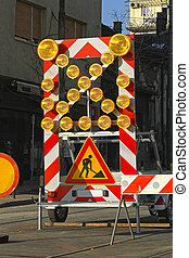Road Works Lights - Road Works Construction Traffic Signs...