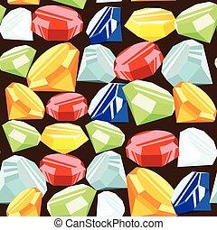 Gemstone seamless pattern