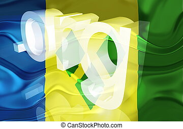 Flag of Saint Vincent and Grenadines wavy website - Flag of...