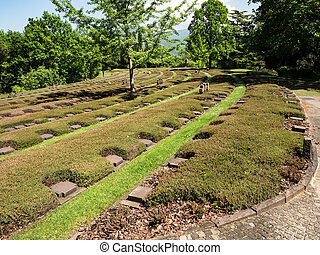 The German Military Cemetery of Costermano , Italy. - The...