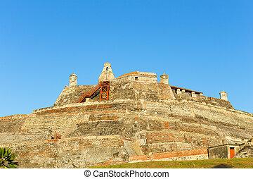 San Felipe de Barajas fortress - Castle is on a hill...