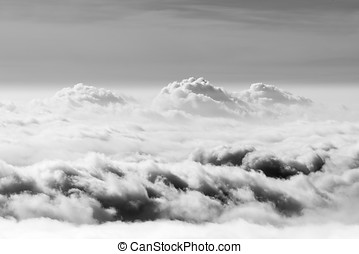 Sea of clouds - General view of a sea of clouds