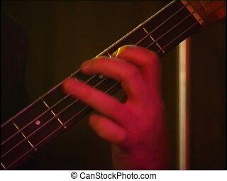 bass giutar - live jazz rock concert in a club