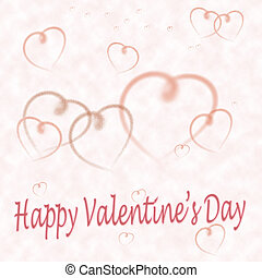 Valentine's day card with message