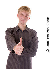 ok thumbs up hand sign