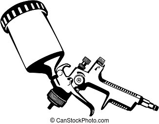 Paint spray gun - Paint Spray gun vector illustration
