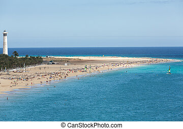 Beach of Morro Jable, Canary Island Fuerteventura, Spain