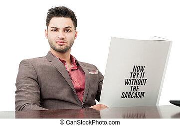 tentar, sem, sarcasm, ,