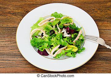 Salad Mix Batavian, Frise, Radicchio, Chicory, Squid Dietary...