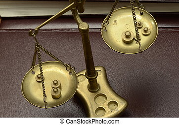 Golden weighing scale - Old Golden weighing scale balance