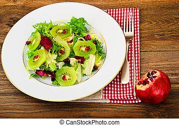 Salad Mix Batavian, Frise, Radicchio, Chicory, Kiwi - Salad...
