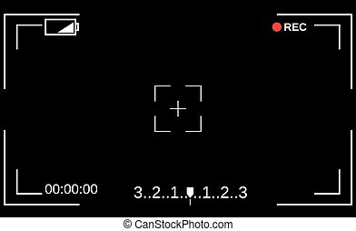 Template focusing screen of the camera. - Camera viewfinder....
