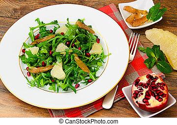 Salad Mix Batavian, Frise, Radicchio, Chicory, Pomegranate,...