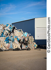Plastic Waste recycling - Stock Image - Pile of waste and...