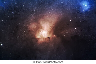 Infinite space background with nebulaes and stars. This...