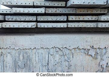 Stock concrete precast slabs close up