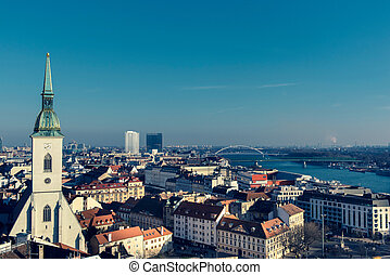 Landscape of Bratislava - Landscape of the Capital city of...