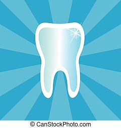 Dental Treatment Symbol Tooth Icon - Healthy shiny tooth on...