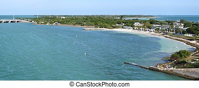 Florida Keys - Scenery of Bahia Honda State Park in Florida...