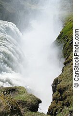 Gullfoss waterfall is a natural landmark of Iceland